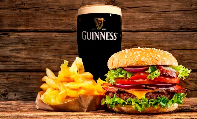 Burger, Fries and Guinness